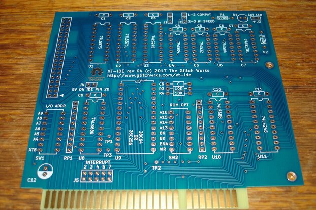 XT-IDE rev 4 Bare PC Board 8 Bit ISA GW-XTIDE-4
