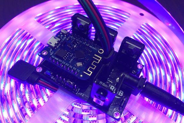 DemiRGB: Hackable RGB LED WiFi light controller