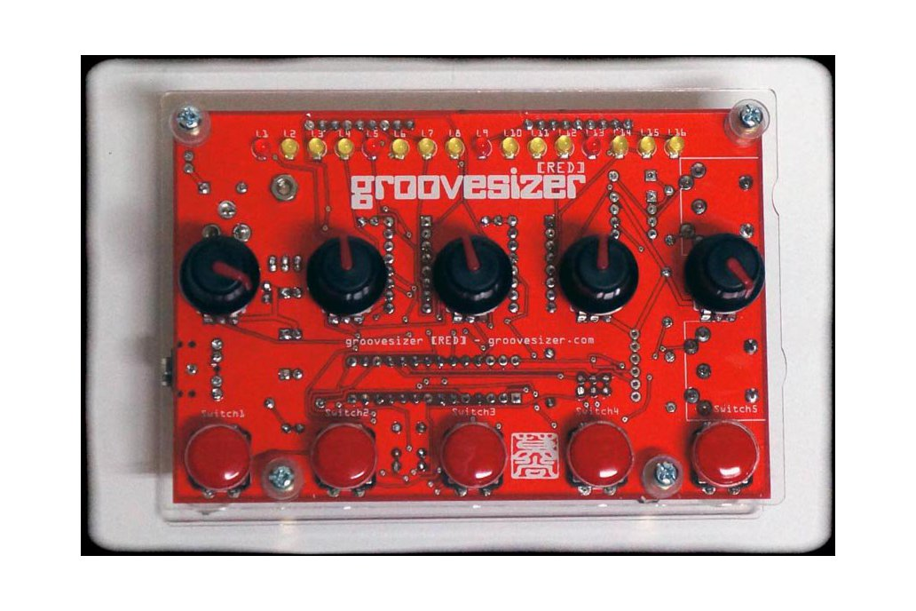 Groovesizer RED - granular synth & 16-step MIDI sequencer