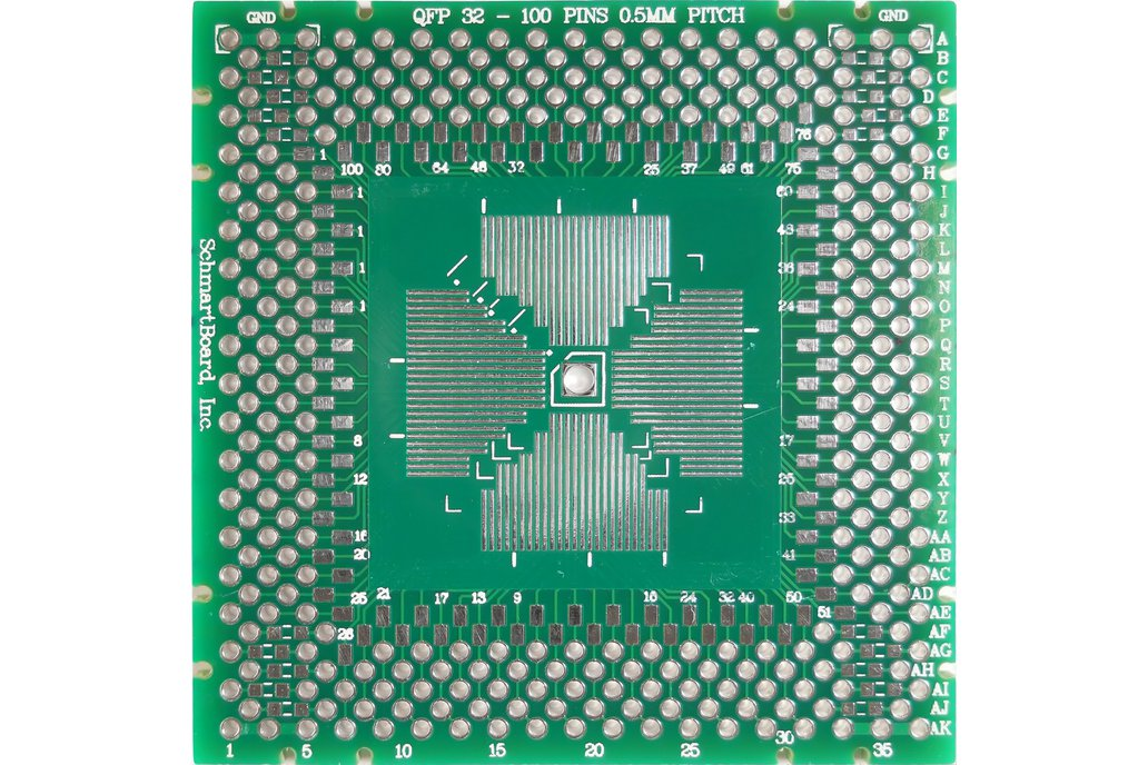 "QFP 2""x 2"" Grid EZ Version PCB (Choose your size!) 1"