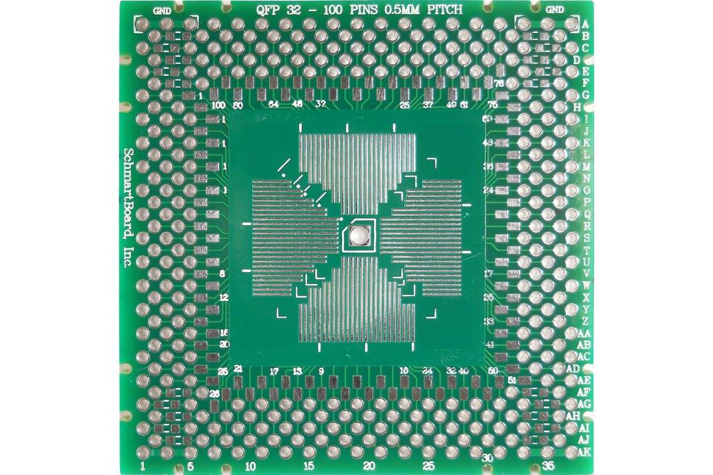 """QFP 2""""x 2"""" Grid EZ Version PCB (Choose your size!) 1"""