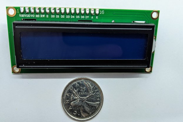 16x2 LCD Display with Pre-Soldered I2C Backpack