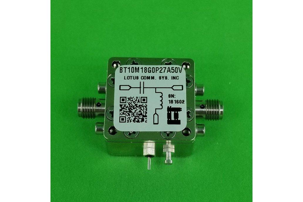 Bias Tee Broadband 10 MHz to 18 GHz 50V 0.27A 1