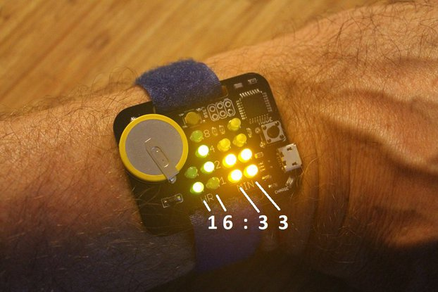 Simple Rechargeable Binary Watch