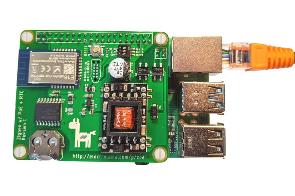 zoe PoE -Zigbee Radio, RTC & PoE for Raspberry Pi 1