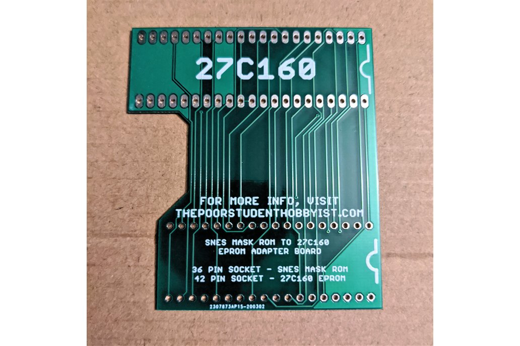 SNES to 27C160 Extended Adapter Board 1