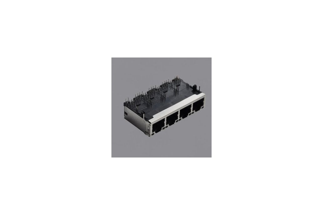 JT6-1480NL 10G 4 Port RJ45 Magjack Connector  1