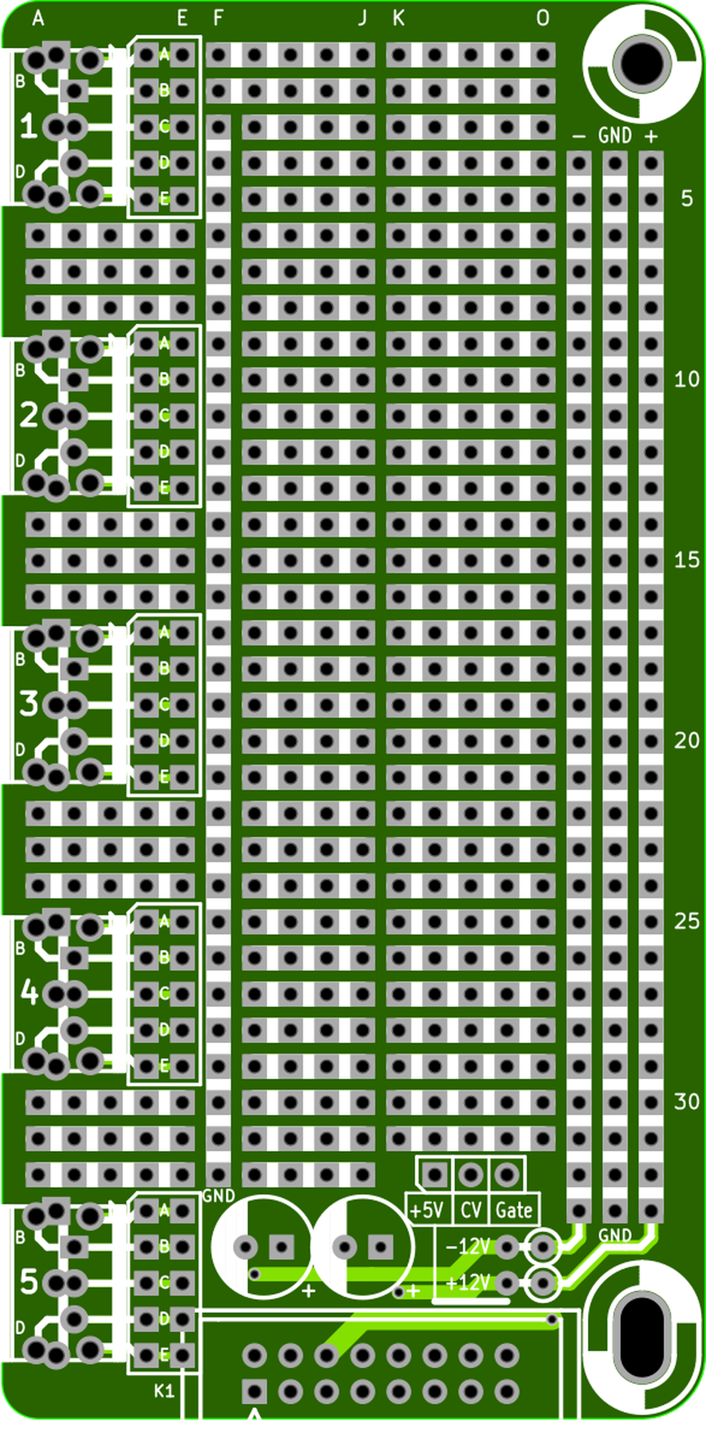 Eurorack Stripboard Pcb From Electronic Things And Stuff On Tindie 12 Pcs Kit Prototyping Printed Circuit Board Prototype 2