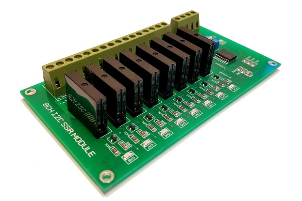 8 Channel I2C Solid State Relay Module