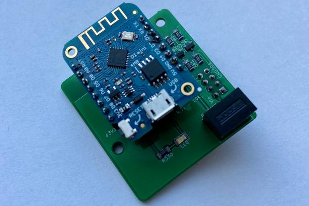 Itho CVE RFT ESP8266 based Wifi to I2C add-on