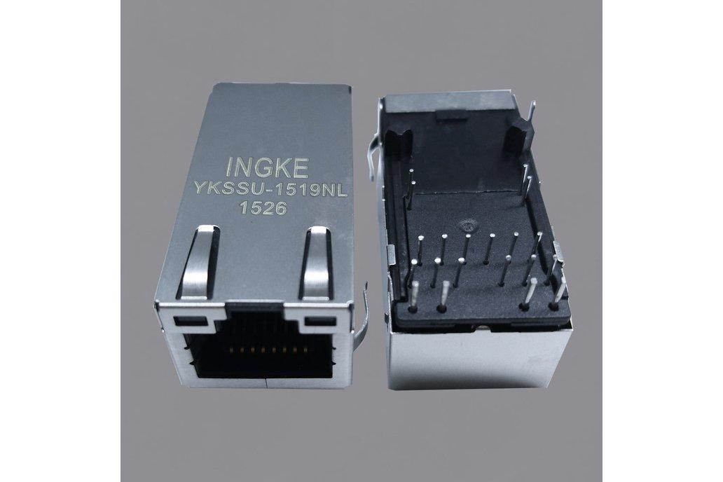YKSSU-1519NL 2.5G PoE+ RJ45 Magjack Connectors 1