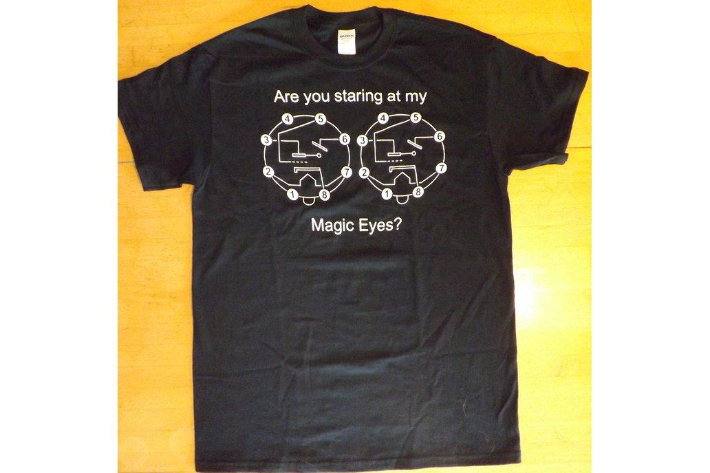 Magic Eye Vacuum Tube Black T-Shirt 1