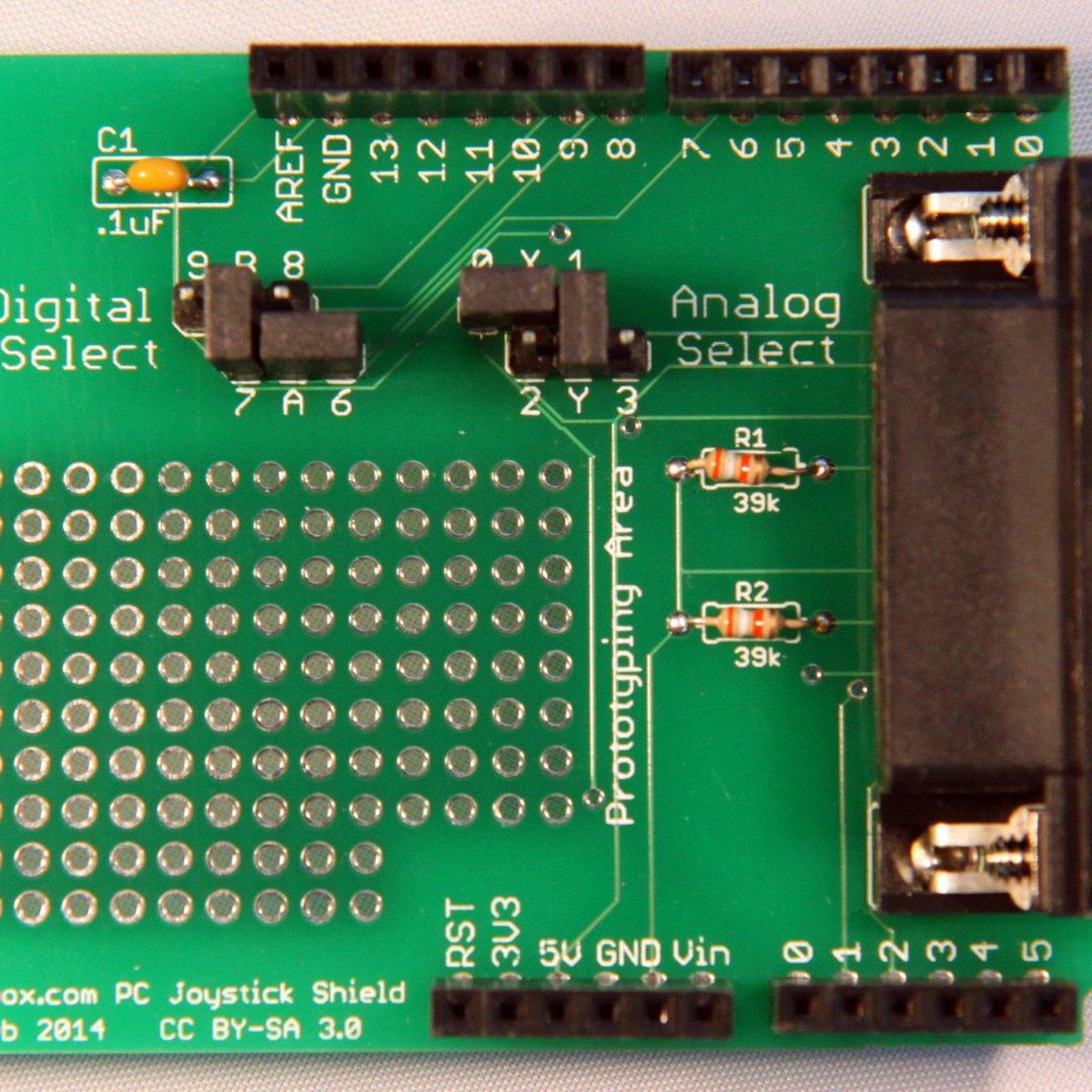 Arduino Joystick Shield for DB15 PC Joysticks from Lectrobox