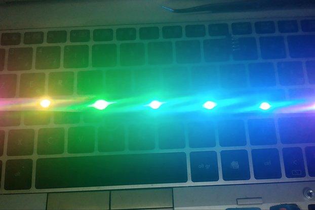 WS2812 RGB  5050 LED 294 * 8mm RIBBON pack of 5