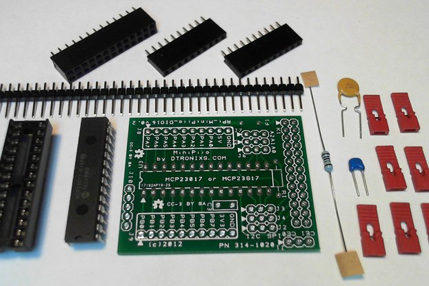 Raspberry PIIO - DIO16 16ch SPI Port Expander Kit