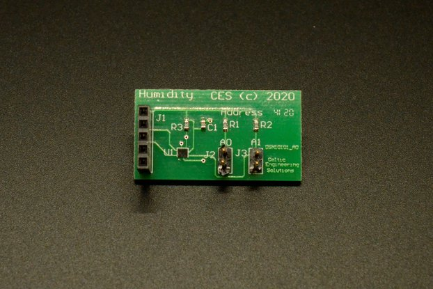 I2C Humidity board for Microcontrollers