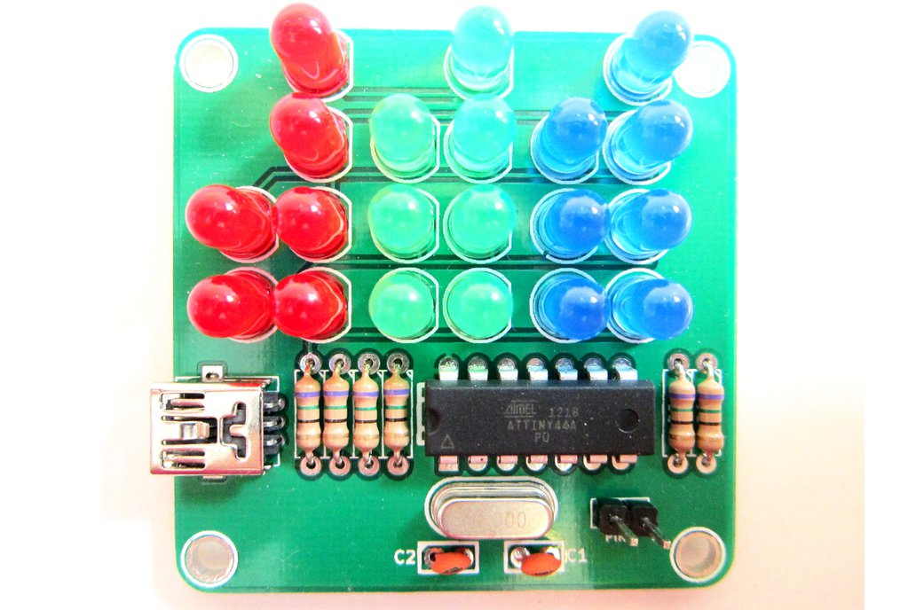 Binary Clock Kit with Red, Green and Blue Lights 1