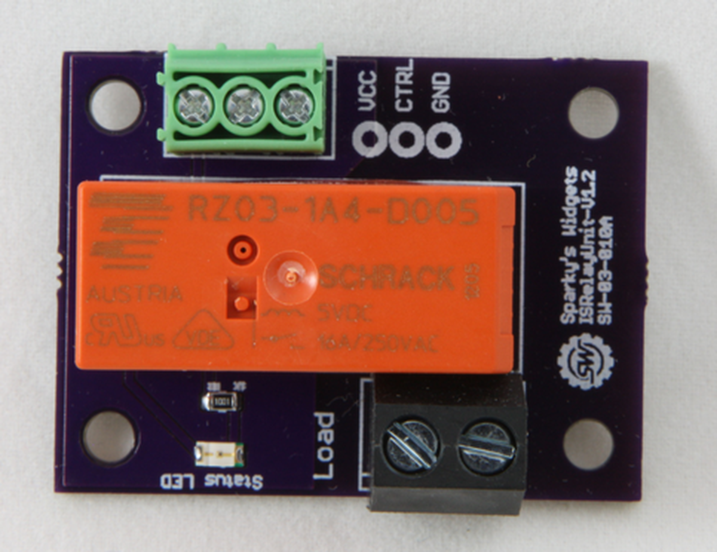 Is Relay Unit 250v 16a From Sparkys Widgets Llc On Tindie
