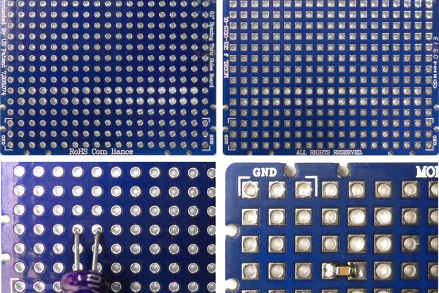 """2""""x 2"""" Universal Through Hole & Surface Mount PCB"""