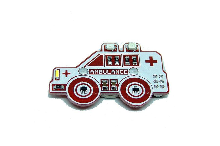 Ambulance - LED learn to solder kit