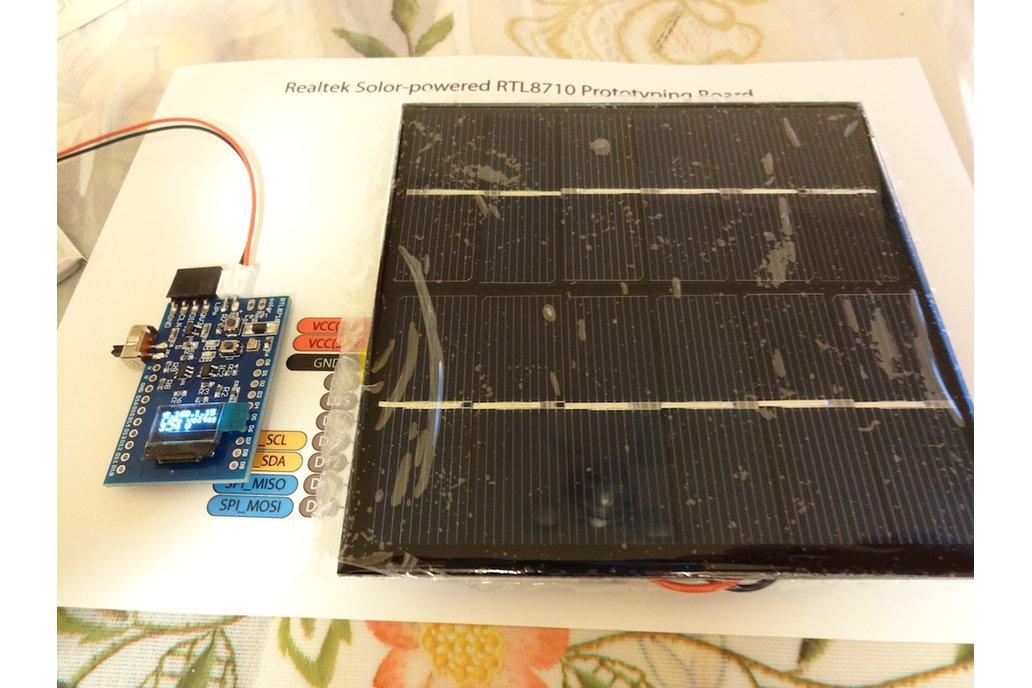 Solar-powered RTL8710 prototyping system version 2 3