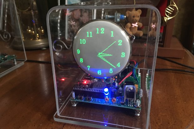 Mini Oscilloscope Clock DG7-6 Cathode Ray Tube 3""