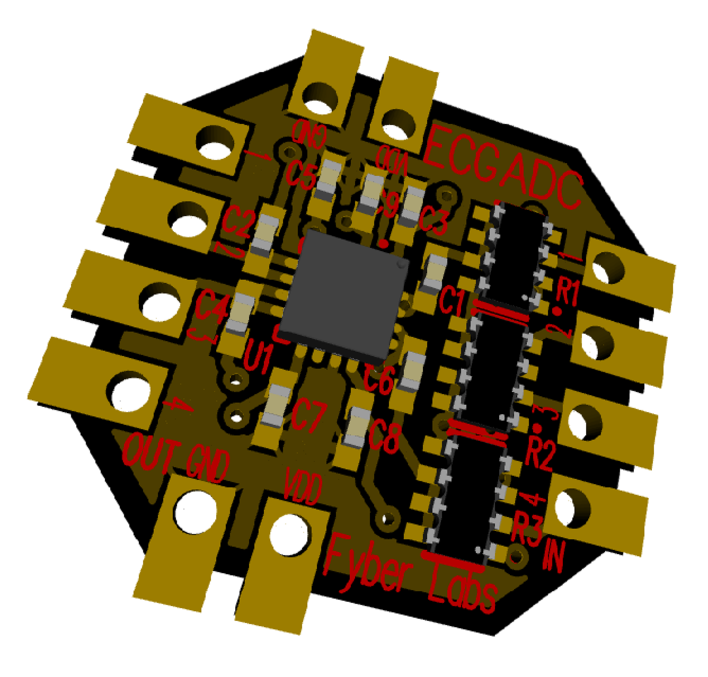 Ecg Adc Flex Module From Fyber Labs Inc On Tindie