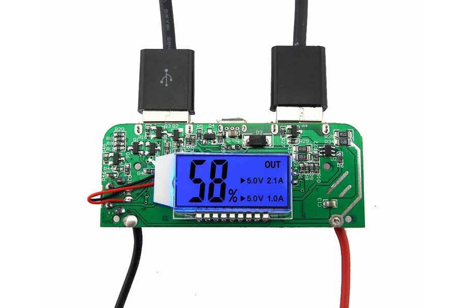 Two-USB Mobile Power Bank Charger PCB Board(6876)