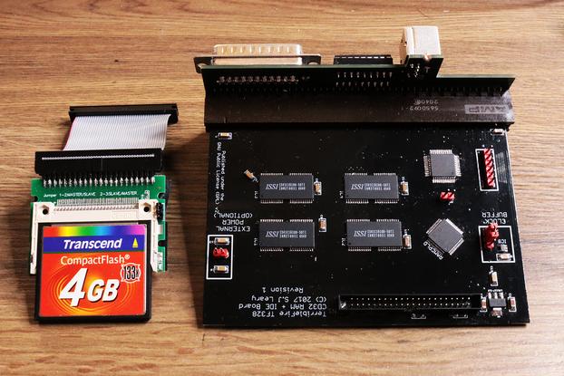 Amiga CD32 8MB RAM Accelerator with CF Hard Drive