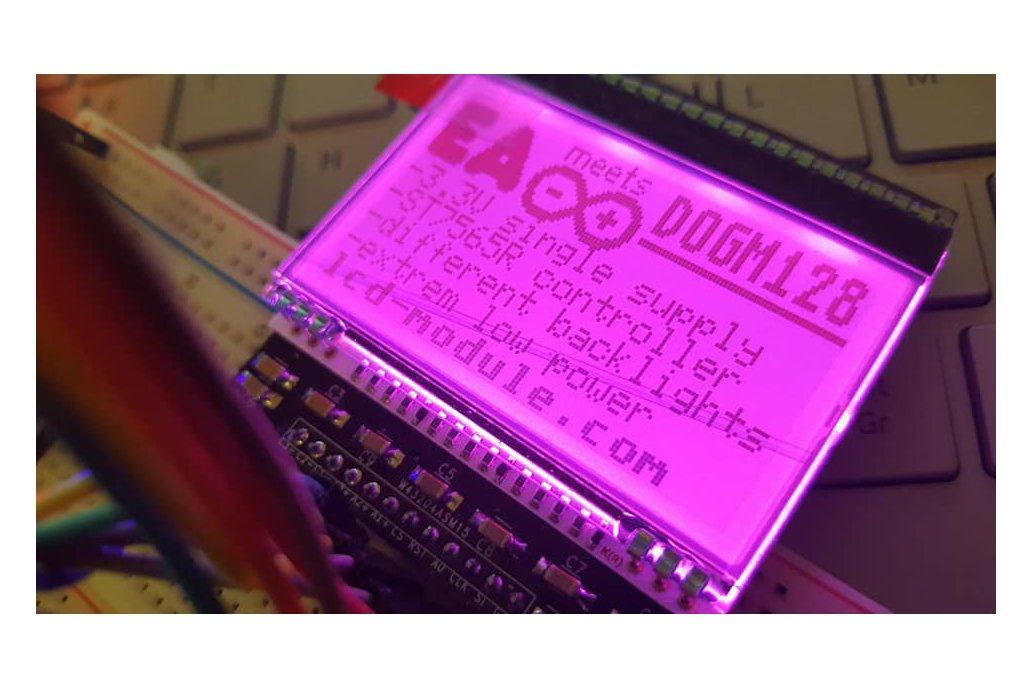 AE DOGM-128 Display holder, breadboard compatible 5