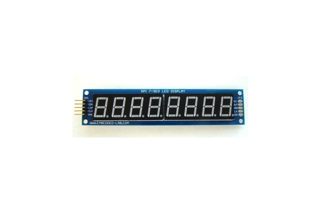Serial 8-digit 7-segment LED display (Yellow) 1