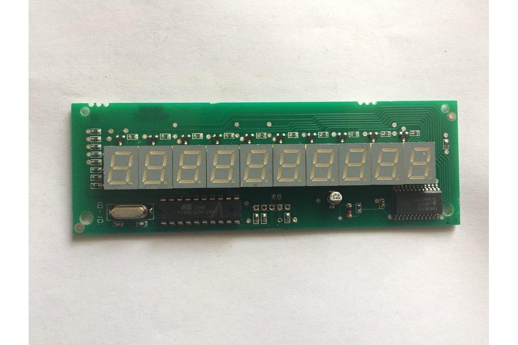 Board with ten seven segment indicators, 10 dgts 1