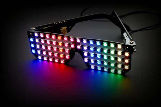 RGB LED Shades Kit - Wearable light-up glasses