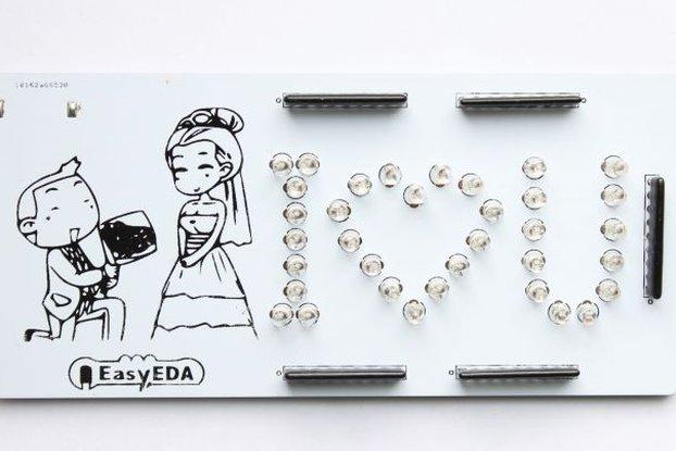 """DIY Romantic Marry Me """"I♡U""""  PCB board"""