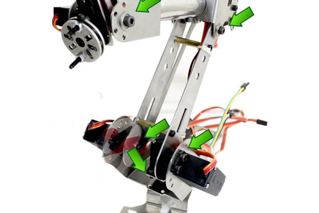 metal steel structure 6 DoF Robotic Claw arm manip