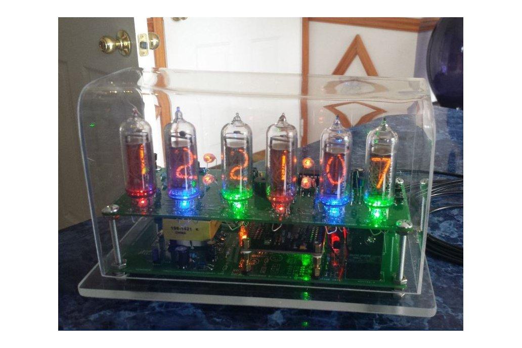 Six Digit Nixie Clock with IN-14 nixie tubes 3