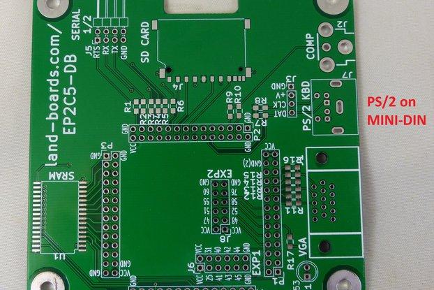 Z80, 6502, 6809, FPGA Multicomp PCB (EP2C5-DB)