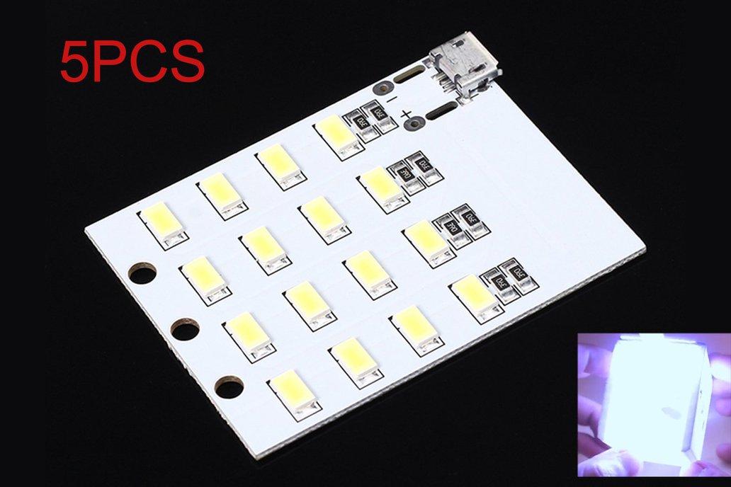 5pcs Micro USB 5730 SMD LED Emergency Light(12510) 2