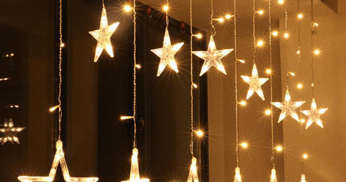 christmas lights fairy star led curtain string from easylife on tindie