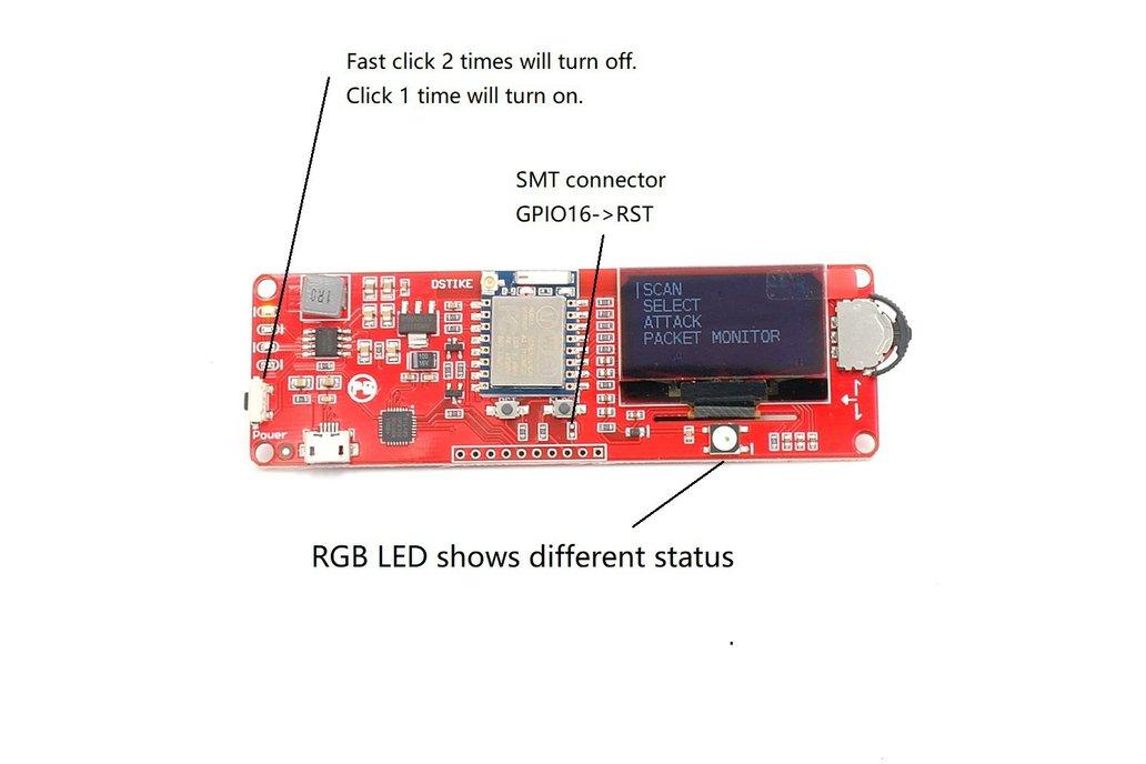 DSTIKE WiFi deauther OLED V3.5 (Added RGB LED) 5
