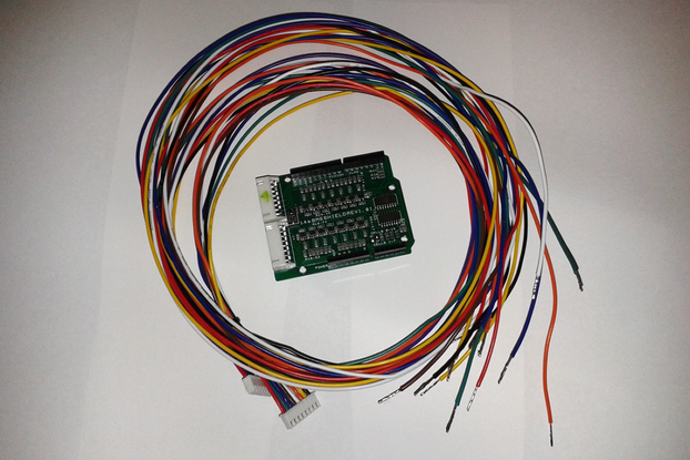 14s Battery Monitor for Arduino, with cable set.