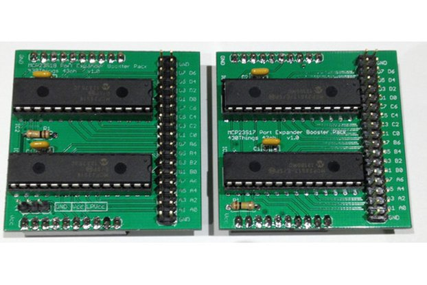 32 IO Expander Booster Pack PCB (MCP23S17)