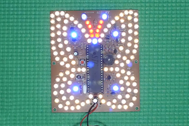 Music Butterfly Shaped DIY Flashing Light(4982)