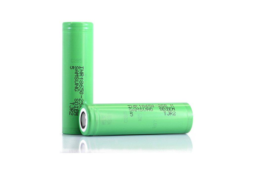 2 pieces Li-Ion Battery Samsung 25R 2500mAh 20A 1