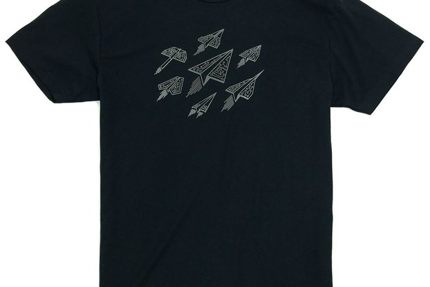 ASCEND - Digital Paper Airplanes Graphic T-shirt