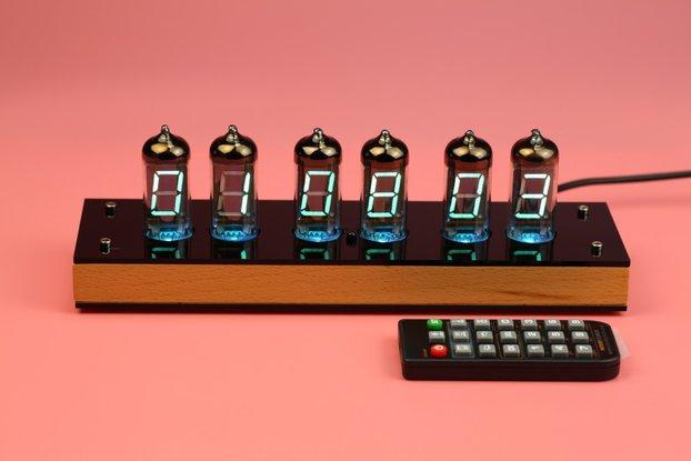 6 pcs IV-11 VFD Nixie Tube Clock