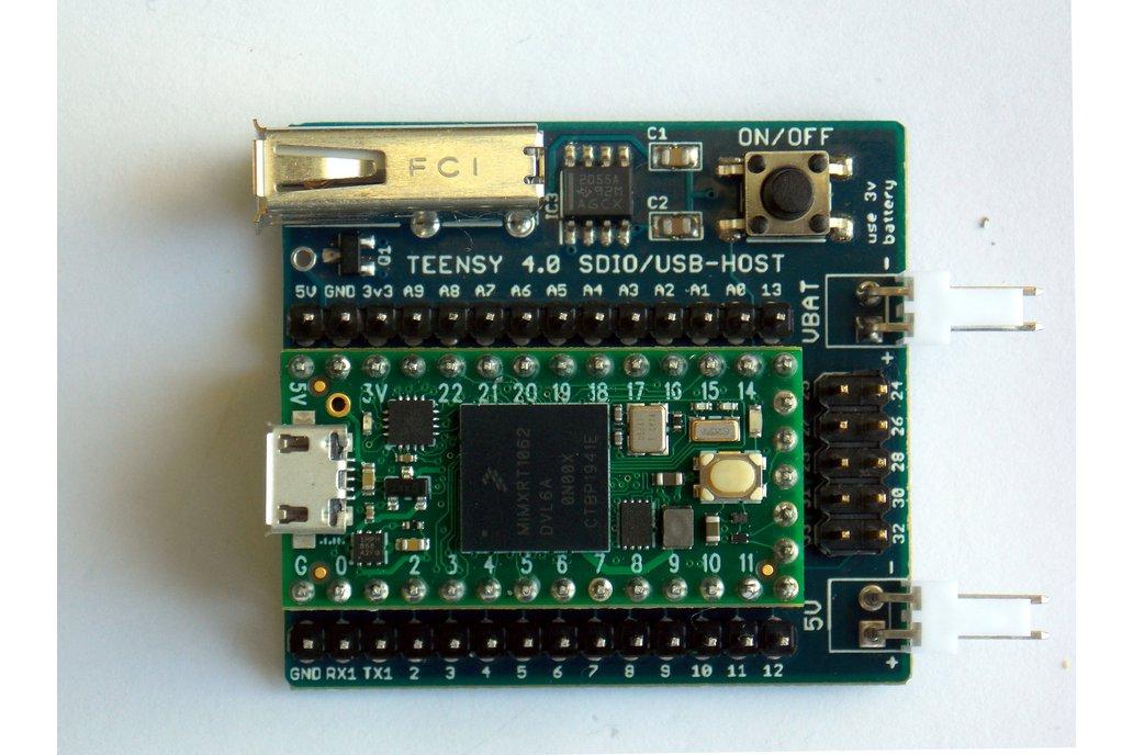 Teensy 4.0 SDIO + USB-HOST Board 1