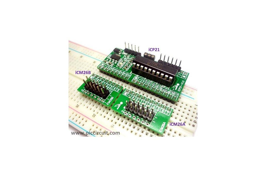 iCP21- Microchip 8, 14 & 20 pins PIC16  IO Board 6