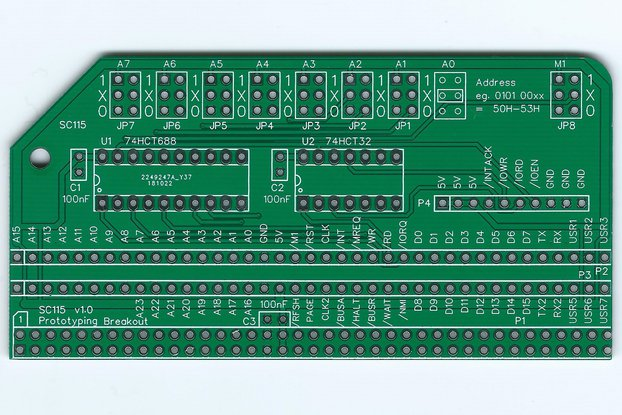 SC115 Prototyping Breakout Board for RC2014