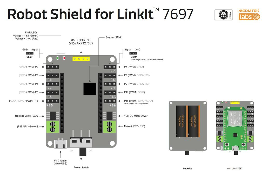 Robot Shield Servo Control Board for LinkIt 7697 6